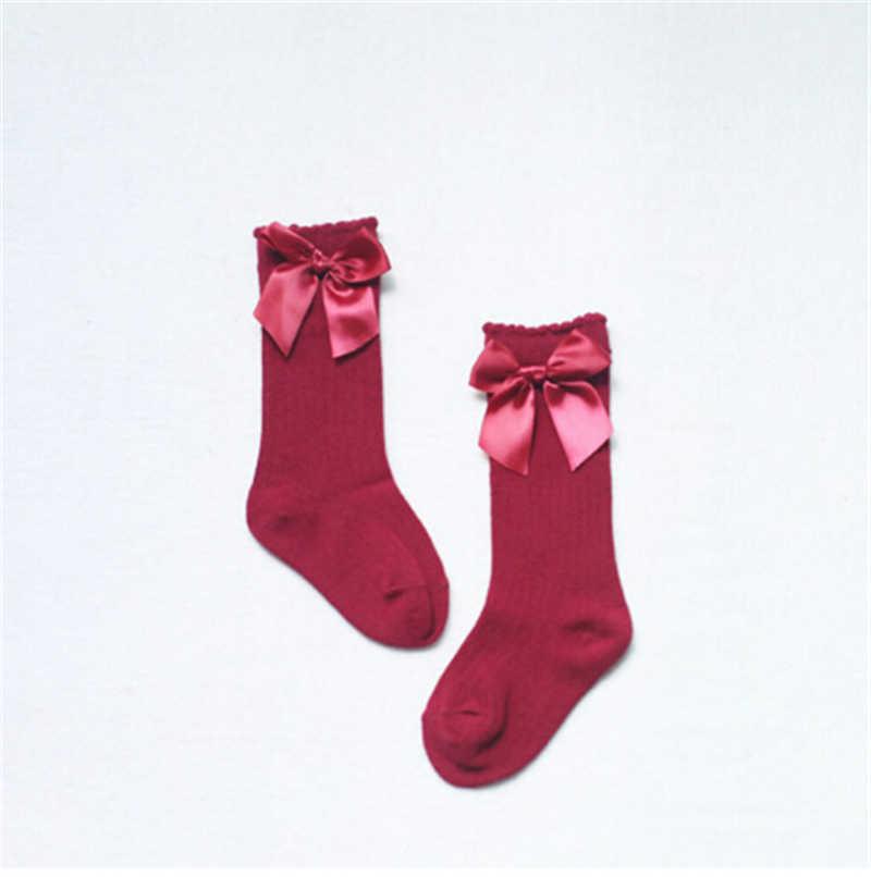 Nette Prinzessin Baby Mädchen Socken Knie Hohe Mit Bogen Socken Mädchen Süße Baby Socken Lange Röhre Socken Kinder Kinder Bein wärmer Boot