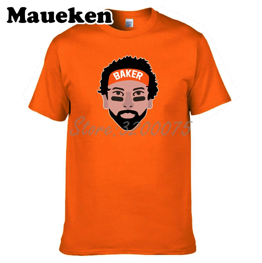 more photos 1d174 1496e US $18.88 |Men Baker Mayfield 6 Cleveland T shirt Clothes T Shirt Men's  tshirt for fans gift o neck tee W18042909-in T-Shirts from Men's Clothing  on ...