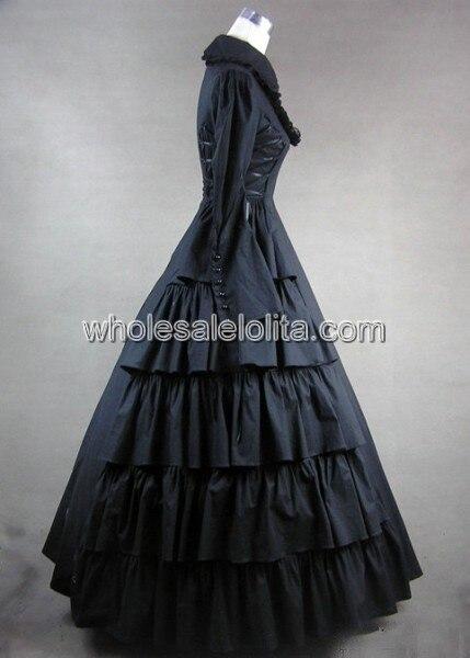 Новая распродажа Косплэй готический, викторианской эпохи платье