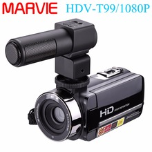 Marvie Camcorder With External Microphone Night Vision Camera Full HD 24.0MP 1080p Webcam 3″ Touchscreen Digital Video Recorder