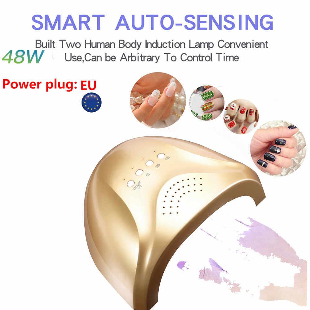 Новая мода высокого качества 48 Вт Светодиодный УФ гель для ногтей отверждения лампы Свет Сушилка для гель-лака машинка для дизайна ногтей Прямая доставка