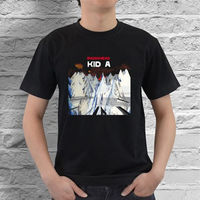 Tee Shirts For Sale Crew Neck New Radiohead Kid A Rock Band Logo Men S Black