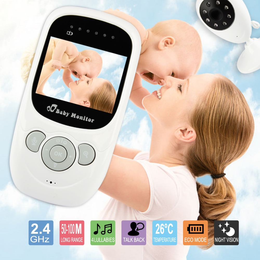 Monitor notturno a 2,4 pollici Baby Sleep Monitor LCD Night Vision IR Wireless Videocamera digitale babyfoon Video Security Monitor a 2 vie TalkTemperature