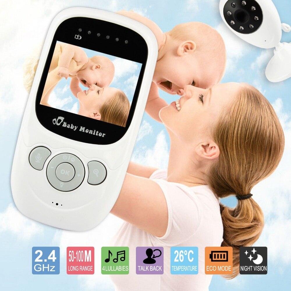 2.4 Pouce Bébé Moniteur LCD Nuit Vision IR Sans Fil Numérique babyfoon caméra Vidéo de Sécurité 2 Façon TalkTemperature Moniteur