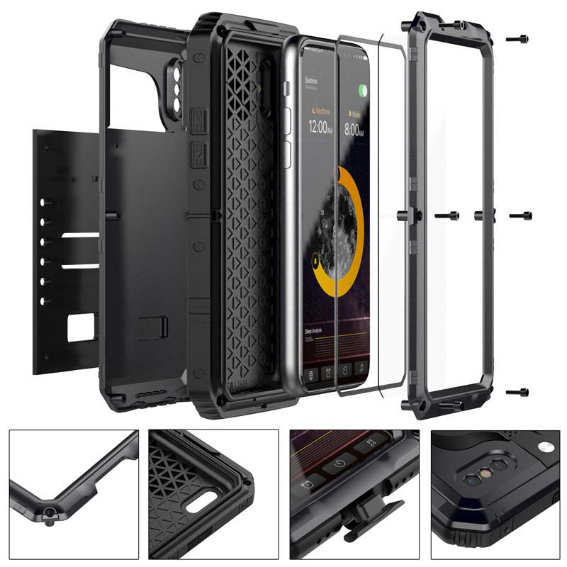 Waterproof Aluminum Case For iPhone X (5)
