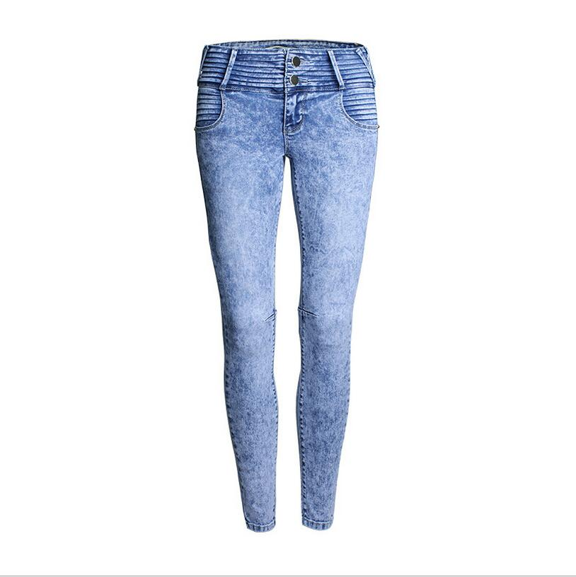 High Qualtity Hole feet pants large size jeans female trousers pencil pants wholesale in Europe and