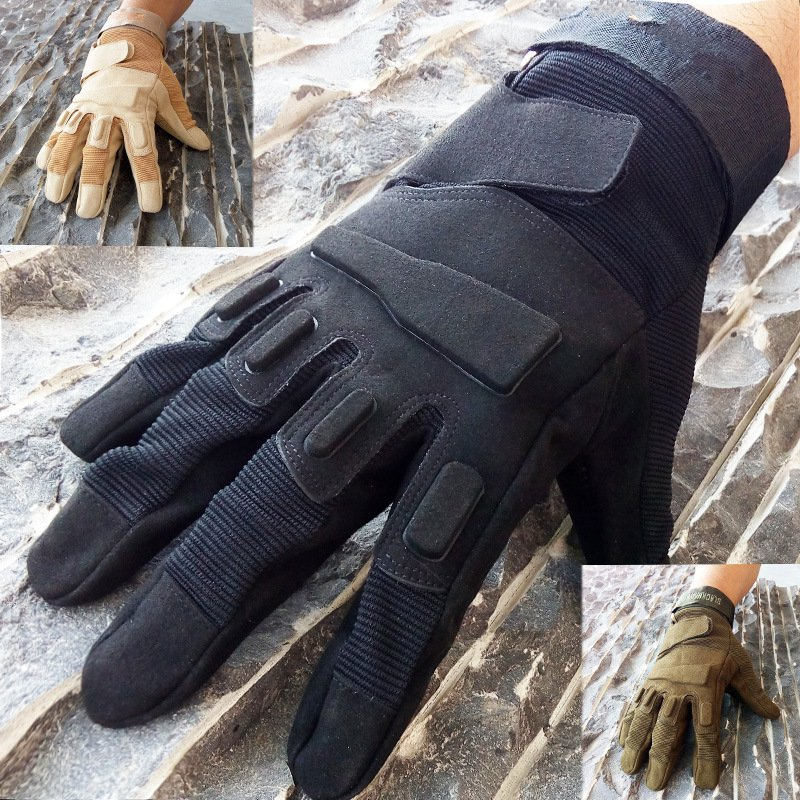 Tactical full finger cycling gloves outdoor sports and fitness military fans fighting gloves black fitness gloves summer sun gloves riding sports black hawk military tactical cs special forces leather semi fingertips