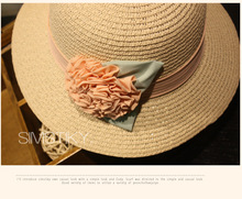2017 Fashion Design Classic Solid Floral Sun Hat For Women Straw Outdoor Foldable Female Beach Sun Hat