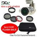 PGY DJI phantom 4 3 Профессиональные аксессуары фильтр объектива 6 шт. (Мешок + ND4 + ND8 + MCUV + CPL + крышка) Gimbal Камеры Quadcopter беспилотный часть