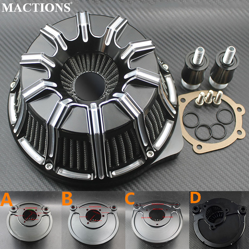 Air Filter CNC Air Cleaner For Harley Sportster XL883 1200 Dyna Fatbob Touring Street Glide FLHR
