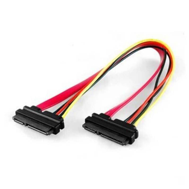 30pcs SATA 7 15P Female to Female Hard Drive Adapter HDD Connector Extension Cord Sata 7p