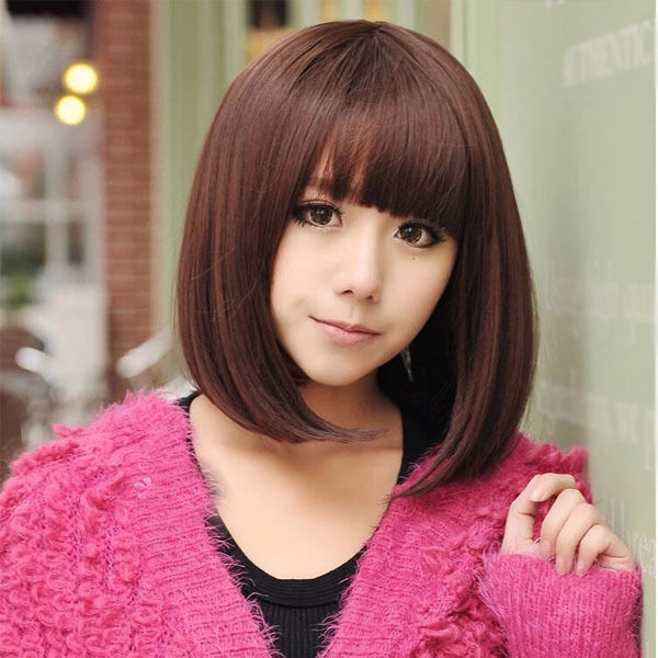 New Women Style Girl Short Straight Hair Cosplay Party ...