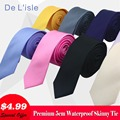 VENDA QUENTE!! moda 5 cm Gravata fina Gravata Estreita Magro para Homens e Mulheres À Prova D' Água Nano Presente Prémio