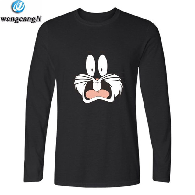 528a793f410 Bugs Bunny print cartoon tshirt t shirt men women autumn winter long sleeve  cotton t-shirt fashion plus size t shirts tops tee