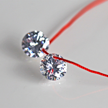 White A Hole Cubic Zirconia Stone 5mm 6mm 8mm 10mm AAAAA CZ stone For Jewelry DIY