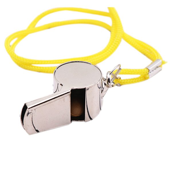 2 Pieces X Whistles In Metal Sports Whistle For Referee And Police Whistle , Camping And Hunting
