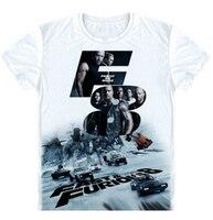 Новый Судьба Форсаж 8 футболка Мода Быстрый & Furious 8 Vin Diesel Дуэйн Джонсон Мужчины футболки молоко шелковый Свободные Майки топы
