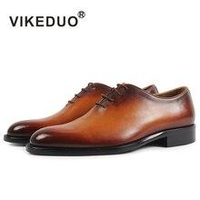 Vikeduo Элитный бренд новейшие модные мужские туфли-оксфорды Топ Натуральная кожа высококлассные туфли под свадебное платье обувь для мужчина 2017