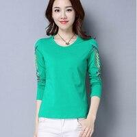 5xl Plus Size Camisetas Mujer 2018 T Shirt Women Long Sleeves T Shirt O Neck Vrouwen