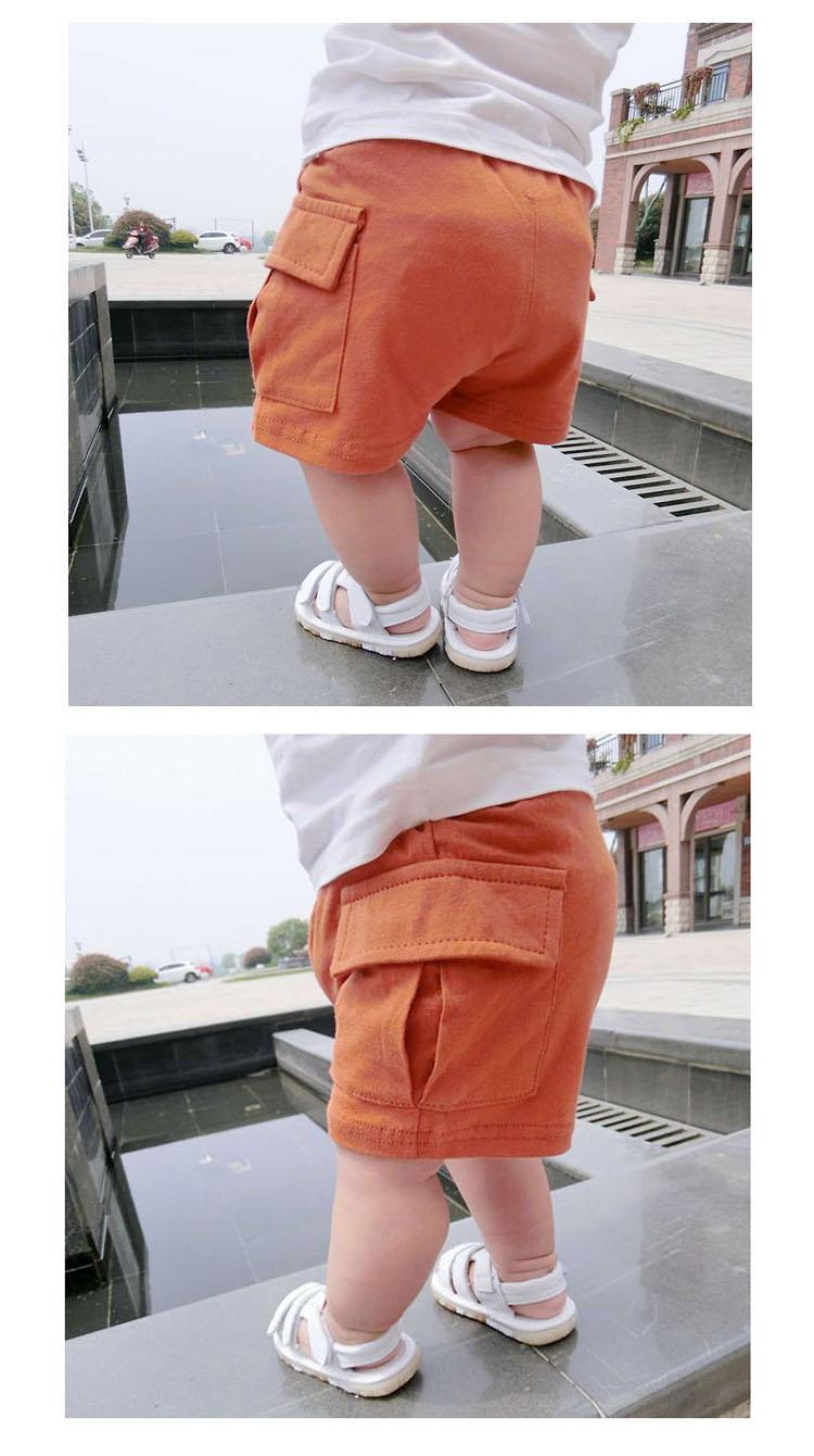 Bebê menino e menina da criança calções calções De Treino de algodão bolso  Grande 5 cores 0-2 yeas de idade recém-nascidos de verão shorts calças  casuais 19fa1c18aef7f