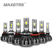 MAXGTRS Car LED Headlight H4 H7 H8 H11 H16 JP 9005 9006 HB3 9012 Canbus Lumileds Chip Auto Replace Light Source Driving Bulbs(China)
