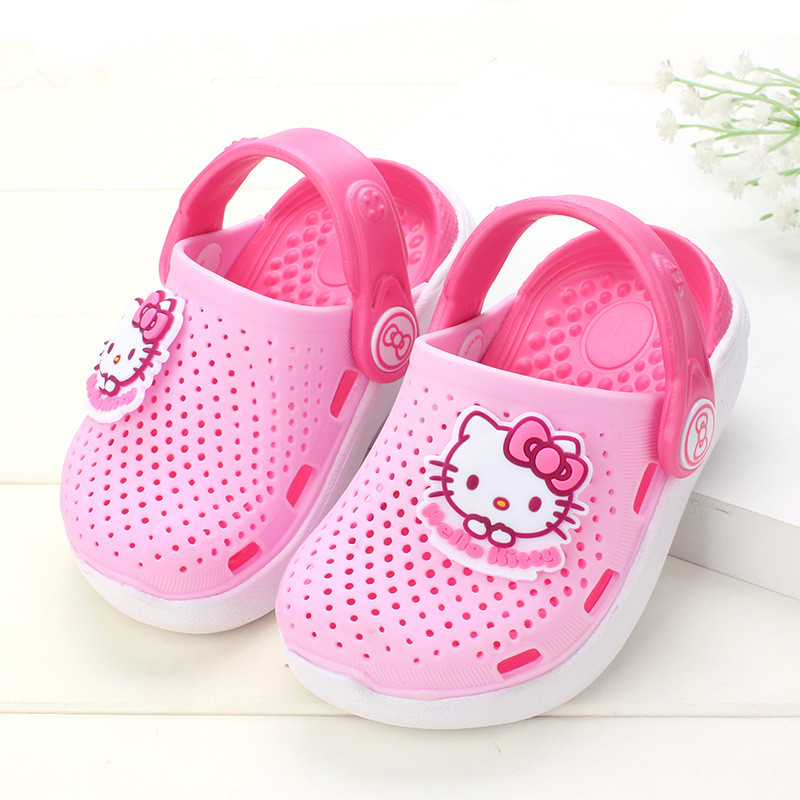 bd7c0594d 2019 Hello Kitty Shoes Kids Girls Sandals Crystal Jelly Shoes Sandals  Children Mini shoes Baby Girl