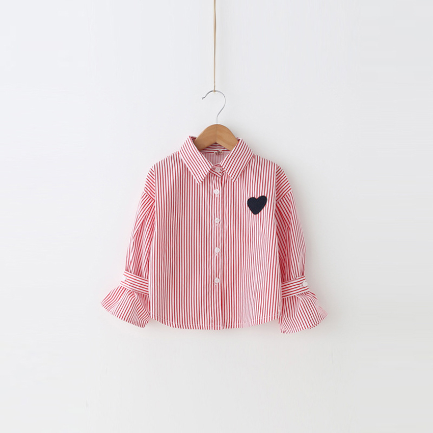 abcd9aded EABoutique 2017 Korean Fashion girls clothes drawing heart striped ...