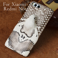 Wangcangli brand phone case real snake head back cover phone shell For Xiaomi Redmi Note full manual custom processing