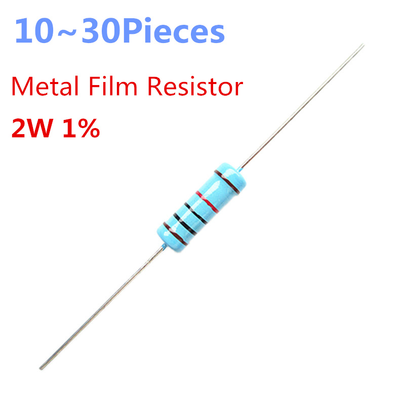 10~30pieces  2.4 Ohm 2W 1% Radial DIP Metal Film Axial Resistor 2.4ohm 2W Resistors