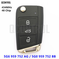QCONTROL Remote Key 5G6 959 752 AG / 5G6959752AG for VW/VOLKSWAGEN MQB GOLF VII 7 MK7 Car 5G0959752BB 5G0 959 752 BB