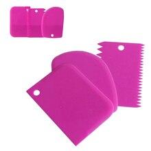 3 шт./компл. пластиковый скребок для торта и кондитерских изделий фондант торт шпатель нож для теста