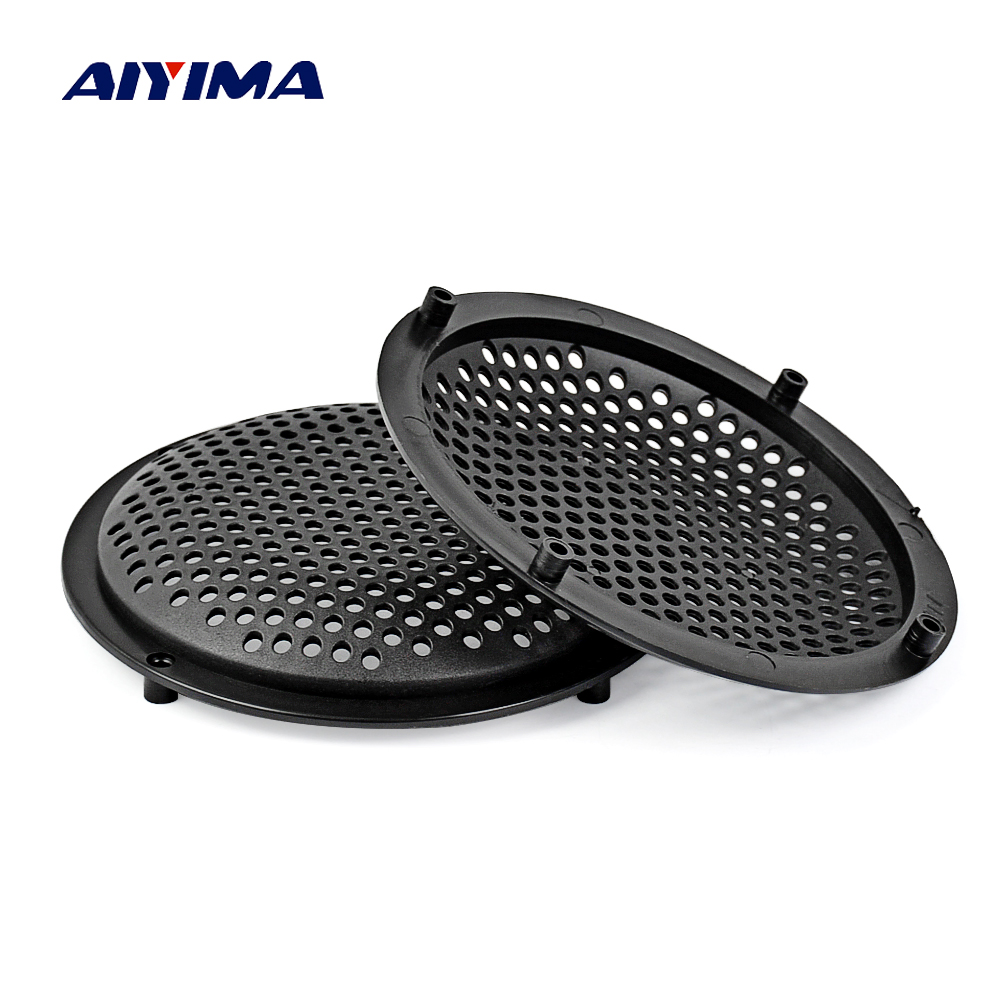 Aiyima 2Pcs 5Inch Speaker Cover Subwoofer Audio Speakers Protective Net Tweeter Grille Plastic Mesh Speaker Protection Network
