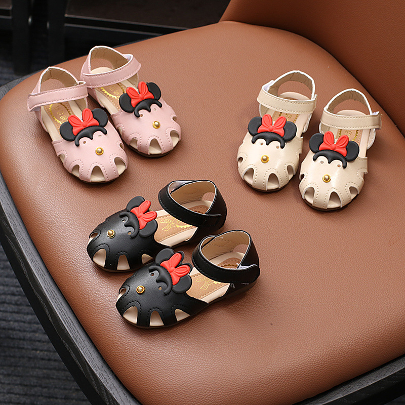 13.5-19cm Summer Kids Sandals Baby Girls Mickey Cartoon Shoes Korean Toddler Shoes Princ ...