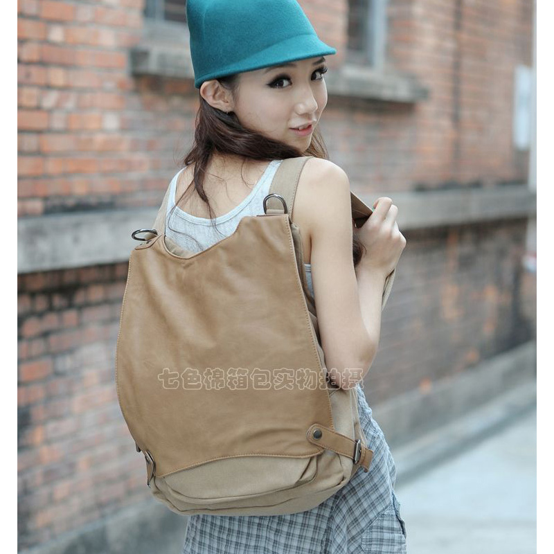 2019 FREE SHIPPING women casual canvas backpacks vintage travel school backpack for women