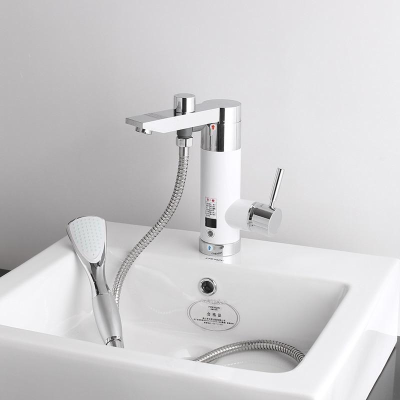 Radient Instant Tankless 220 V Elektrische Wasser Heizung Wasserhahn Cold & Hot Mischbatterie Unter Wasser Elektrische Heizung Küche Bad 3000 Watt