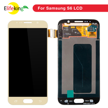 5PCS Lot ORIGINAL 5 1 SUPER AMOLED Replacement LCD with Frame for SAMSUNG Galaxy S6 Display