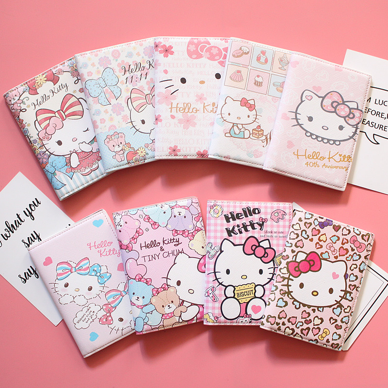 Cartoon hello kitty Passport Cover girls Like High Quality PU Leather Credit Cards Kids Passport Holder Women Passport CaseCartoon hello kitty Passport Cover girls Like High Quality PU Leather Credit Cards Kids Passport Holder Women Passport Case