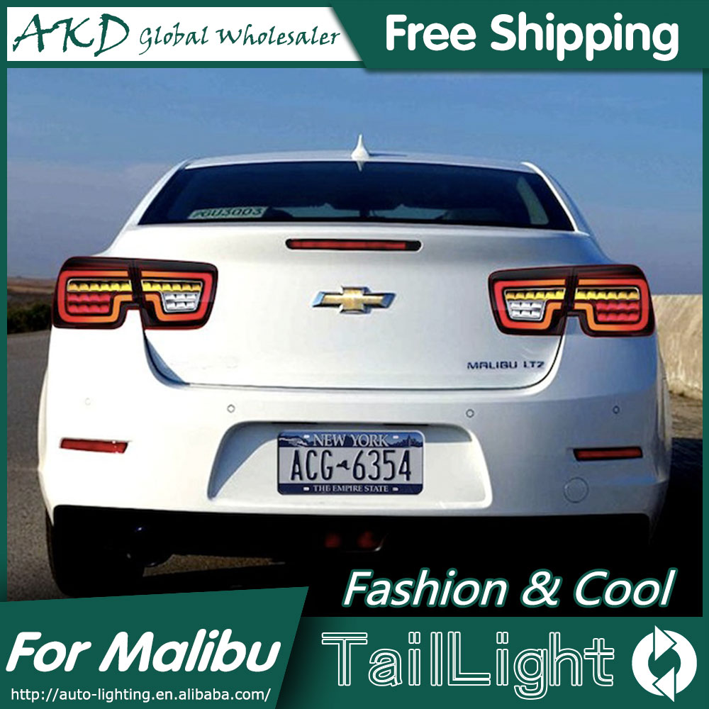 AKD Car Styling for Chevrolet Malibu Tail Lights 2011-2015 New Malibu LED Tail Light Rear Lamp DRL+Brake+Park+Signal