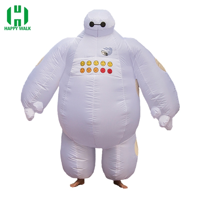 8147f844c5c1 Baymax Inflatable Costume Big Hero 6 Baymax Halloween Costume for Men Adult  Inflatable Clothing Mascot Cosume