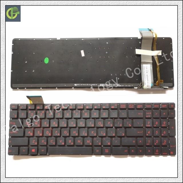 מקלדת רוסית עבור ASUS GL752 GL752V GL752VL GL752VW GL752VWM ZX70 ZX70VW G58 G58JM G58JW G58VW RU שחור עם תאורה אחורית