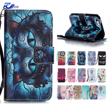 Cartoon Luxury Leather Cover for iPhone 5 SE Stand Holder Wallet Flip Case for iPhone 5S Silicone Cover Coque for iPhone 5 Case