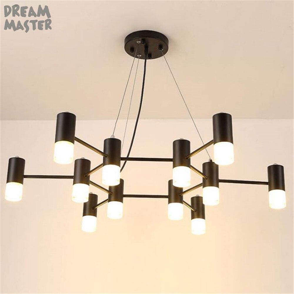 Modern led chandelier lighting luminaire lights fixtures dining room restaurant lustres cristal pendants chandeliers lamp home