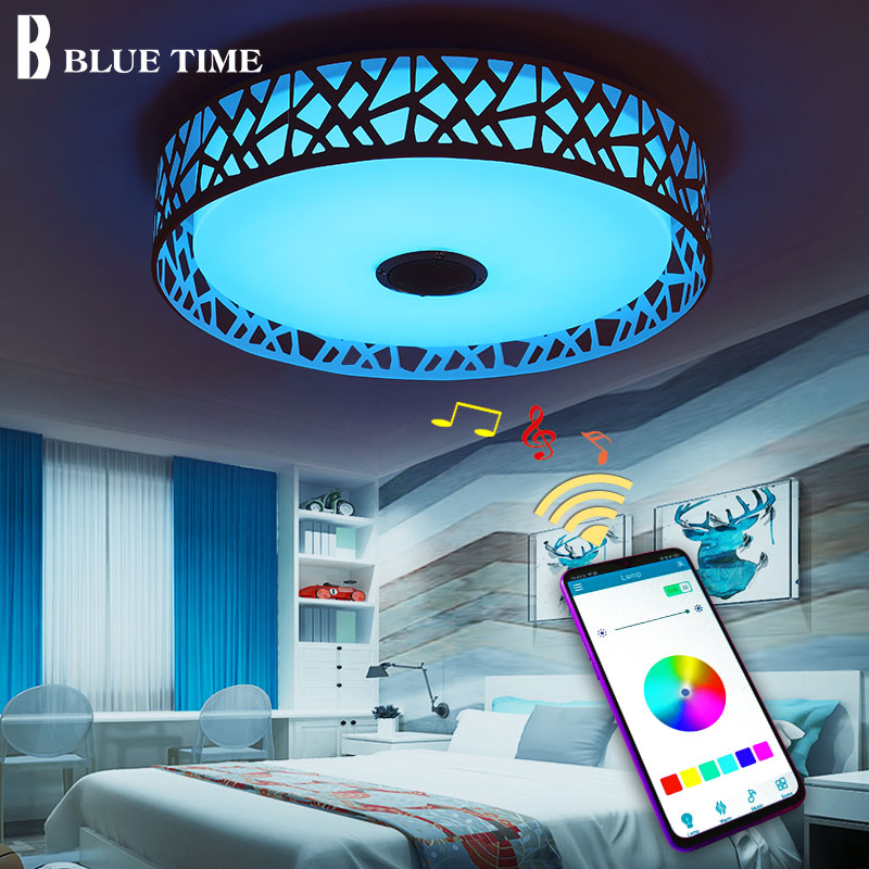 APP Controlling Modern LED Chandeliers For Dining Room Bedroom Living Room Home Music Playing LED Chandeliers