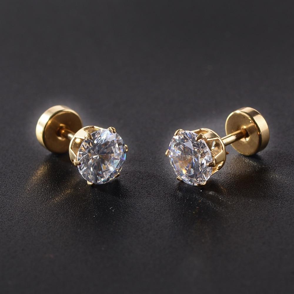 3 4 5 6 7Mm Zircon Ear Piercing Unique Design Stud -8737