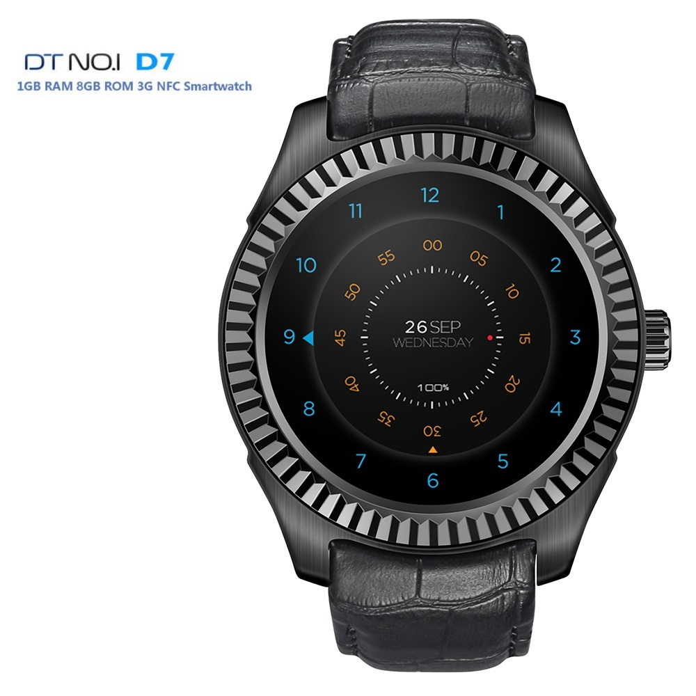 DTNO.I NO.1 D7 Smart Watch Android 4.4 500mAh SIM GPS WIFI 3G Smartwatches