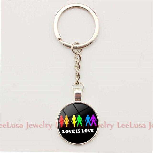 Love Is Love Born Keychains Lgbt Rainbow Pride Keychains Key Ring Alloy Key  Holder Gay Jewelry db631f0e6162