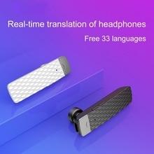 Universal Bluetooth Headphone Wireless Business Real-time Translation Into The Ear T2 Translation Bluetooth Headset Smart наушники monster clarity around the ear bluetooth black 137101 00