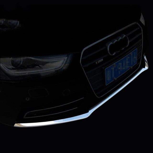 YAQUICKA כרום ABS רכב קדמי גריל גריל פגוש למטה רצועות כיסוי Trim סטיילינג לאאודי A4 A4L B9 2017 2018 אביזרי רכב