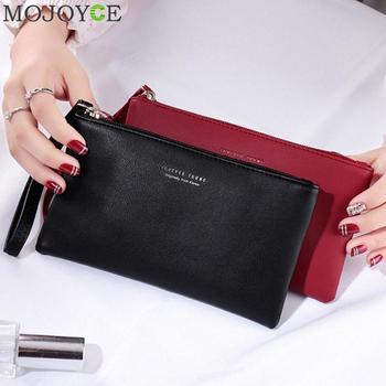 Women Clutch Bag Simple Black PU Leather Handbag Envelope Bag Small Clutches for Women Phone Money Bag Female Handbag sac a main
