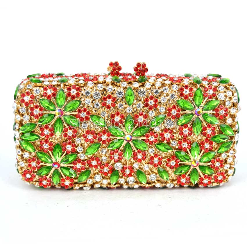 ФОТО Stylish Snowflake pattern Luxury Diamond Clutch Women Party Evening Bag Gold Red Ladies Rhinestone prom pouch dinner bag 88189